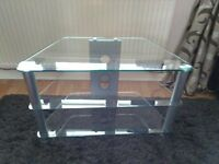 Cear Glass tv stand .