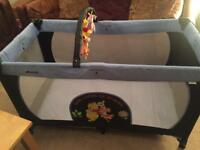 Large Hauck Winnie the Pooh Travel Cot/Playpen