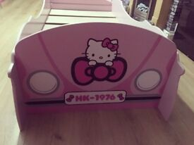 Hello Kitty car toddler bed, £50, good condition, kirkcaldy