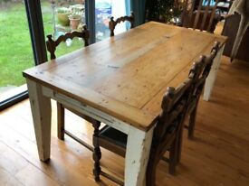 Beautiful antique pine dining table