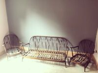 Orginal Ercol Windsor 3 seater sofa suite plus 2 chairs. Includes all cushions.