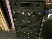 PA or Bass Guitar speaker cabs