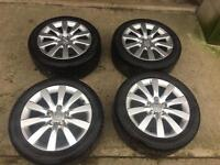 """Audi A4 alloy wheels 17"""" .... fit other skoda , seat , Volkswagen cars"""