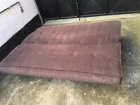 Sofa bed brown fabric + storage underneath •free delivery •