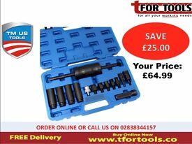 Tm Us Pro 14pc Injector Puller Common Rail Adaptor Slide Hammer Tm177