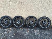 "Fox Evo 3 18"" alloys & tyres - 4x100 Mini Cooper"