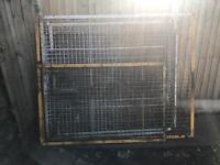 Metal security cage fencing