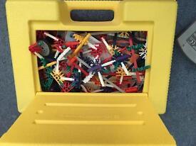 K'nex carry case with various pieces