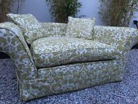 Immaculate as new, handmade luxury Cuddle chair Sofa.