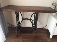 Hand made sewing machine table/desk