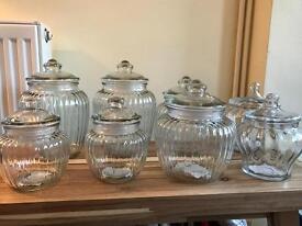 Laura Ashley Brand New Glass Sweet Jars & Lids