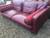 RED ITALIANO LEATHER (FREE DELIVERY)