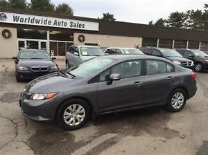 2012 Honda Civic LX AUTO, AC, FINANCE NOW!
