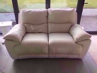 PRICE REDUCED. NEED QUICK SALE. Harveys Paramount 2 Seater Cream Leather Recliner Sofa RRP £2000