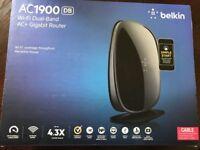 Belkin AC1900 Wireless Dual Band AC+ Gigabit Gaming Router F9K1124