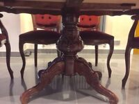 Dinner table and chairs for sale