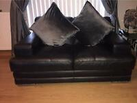 DFS 2 seater black leather sofa. Perfect condition. Bargain price