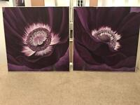 Purple flower prints