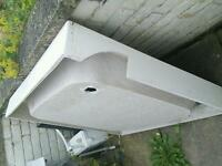 Ceramic shower base
