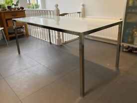 IKEA frosted glass dining table