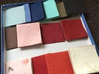 Assorted textured paper squares