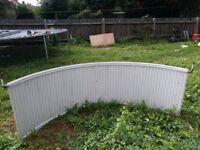 Curved radiator for bay window 207cm x 70cm