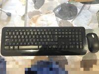 Microsoft Wireless Desktop 2000 Keyboard and Mouse Set, UK Layout - Black