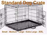 "Dog Crate XL Extra Large 42"" Folding type For Labradors and German Shepards and other big dogs"