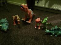 Interactive dinosaur train toys