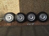 Mini steel wheels with Pirelli winter tyres