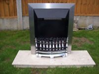 electric frie and marble hearth