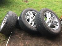Land Rover discovery 2 td5 alloy wheels tyres r18 5