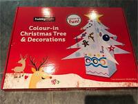 Hobbycraft colour in Christmas tree and decorations
