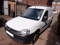 VAUXHALL COMBO VAN, 2007, BRAND NEW CLUTCH, PLY COVERED REAR, DIESEL, CD PLAYER, MOT UNTIL 01.10.17