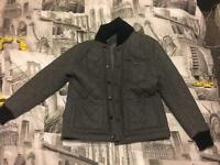 Asos Grey Quilted Bomber Jacket XL