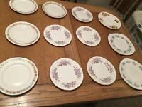 Job lot/collection of 70 vintage China dinner plates