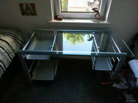 Glass topped desk