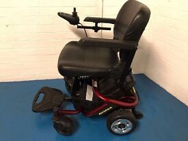 Roma Reno Mobility Power Chair 4mph Red Electric Portable Wheelchair