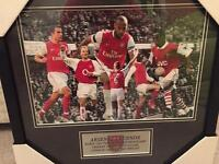 Arsenal legends picture in frame
