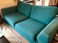 Turquoise 3 seat sofa for sale
