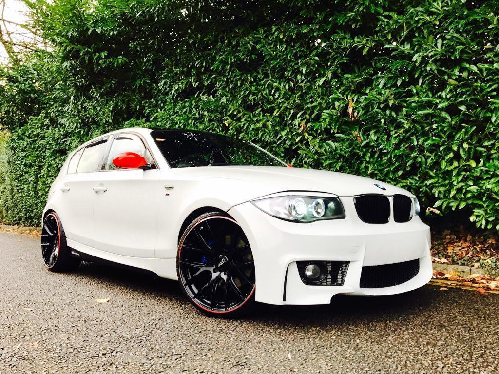 BMW 130i M SPORT SAT NAV 1M BODY KIT WHITE 1 SERIES 130 PETROL ...