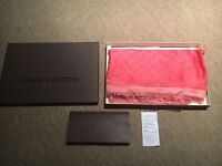 Genuine Louis Vuitton Chale / Shawl / Scarf Mono arty rose, box, receipt