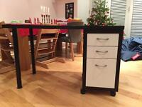 IKEA desk and cabinet