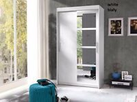 wardrobe with sliding doors brand new in flat pack