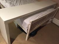 White Ikea End of Bed table RRP £149