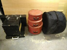 Premier Five Drum Kit including all stands, cymbals and carry cases.
