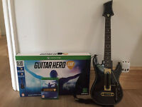 XBOX ONE GUITAR HERO WITH GAME GUITAR AND MEMORY STICK