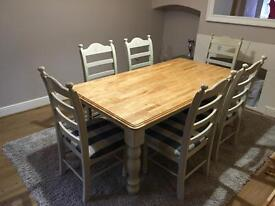 6ft Solid Oak Dining Table & 6 Chair Set