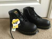 Dr Martens steel toe cap boots (size 8)