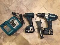 Makita 18v lithium twin pack Dewalt Bosch